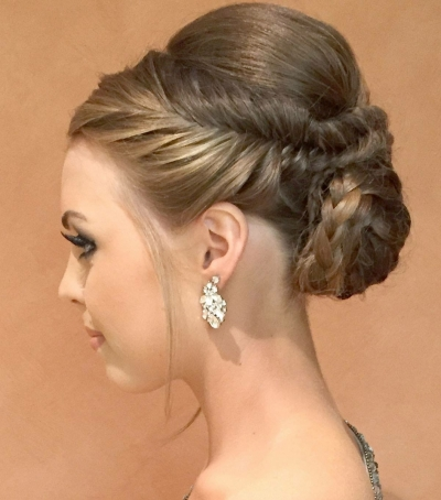 Herring-Bone braided bun