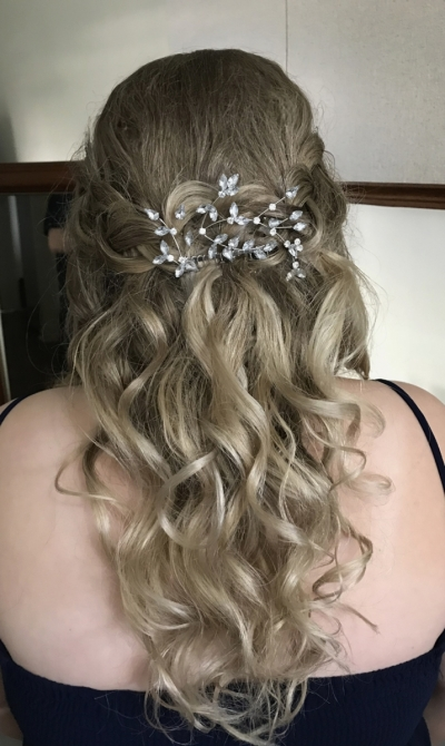 Cascading  braided & Curled
