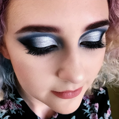 School Ball Makeup - Cut Crease